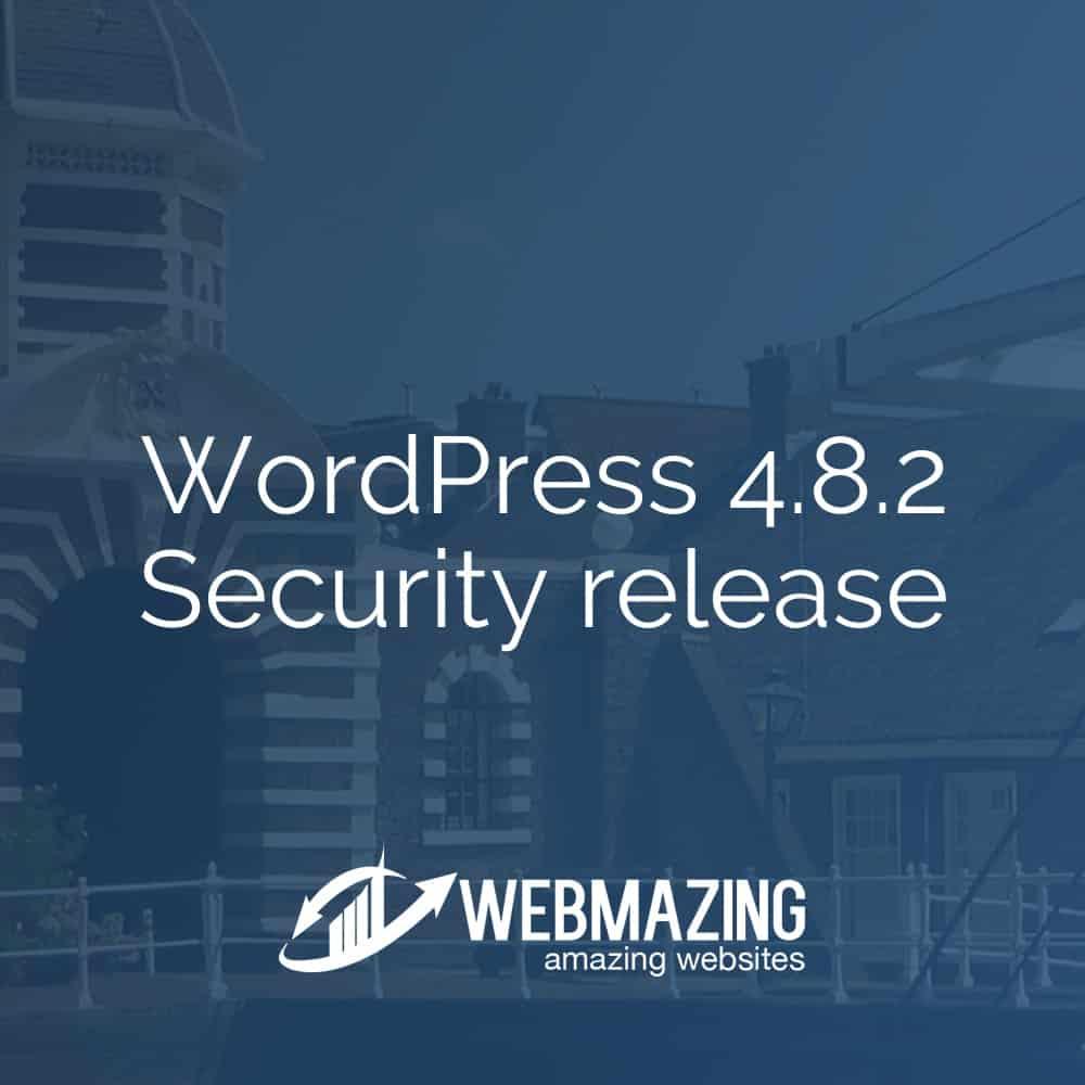 WordPress 4.8.2 Security release